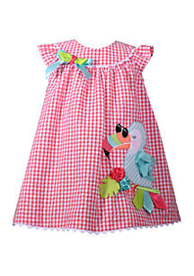 Bonnie Jean Toddler Girls Toucan Seersucker Dress