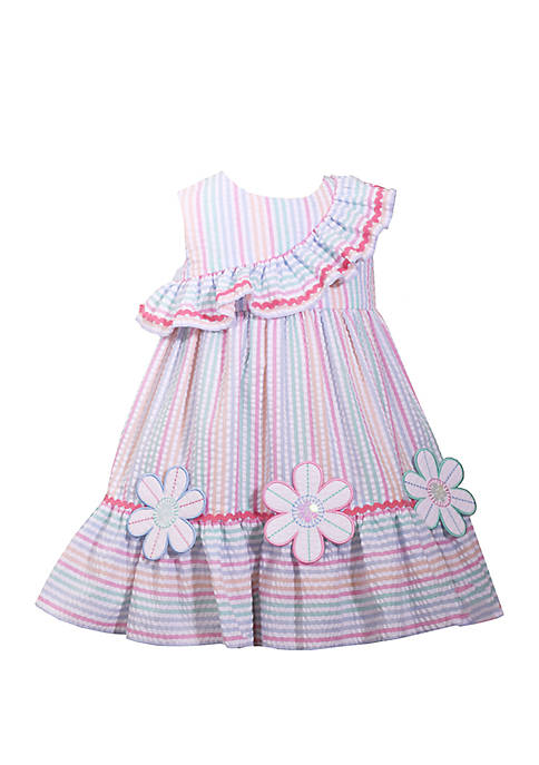 Bonnie Jean Toddler Girls Multi Stripe Seersucker Dress