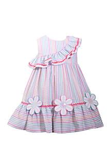 46fb5bf2b725 ... Bonnie Jean Toddler Girls Multi Stripe Seersucker Dress with Flowers