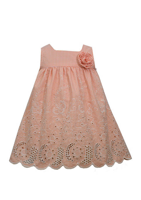 Bonnie Jean Baby Girls Scalloped Hem Dress