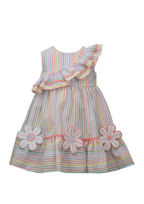 Baby Girls Multi Striped Seersucker Sundress