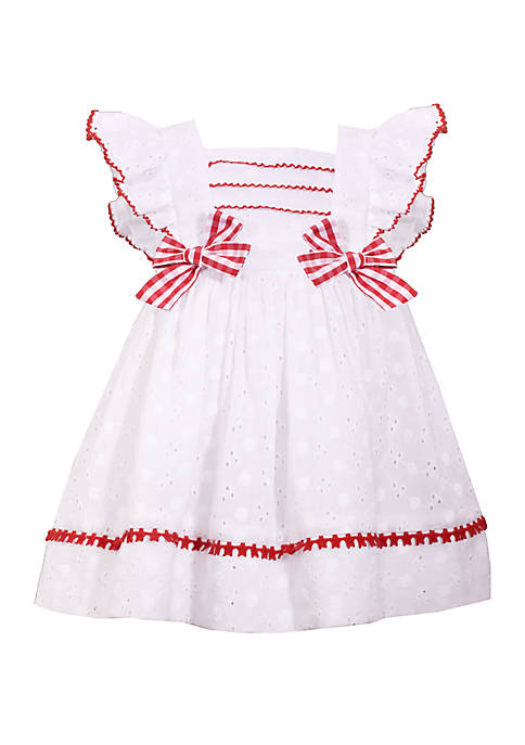 Bonnie Jean Baby Girls White Eyelet Dress