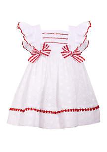 Bonnie Jean Baby Girls White Eyelet Dress