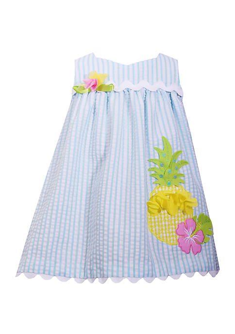 Bonnie Jean Baby Girls Seersucker Pineapple Dress