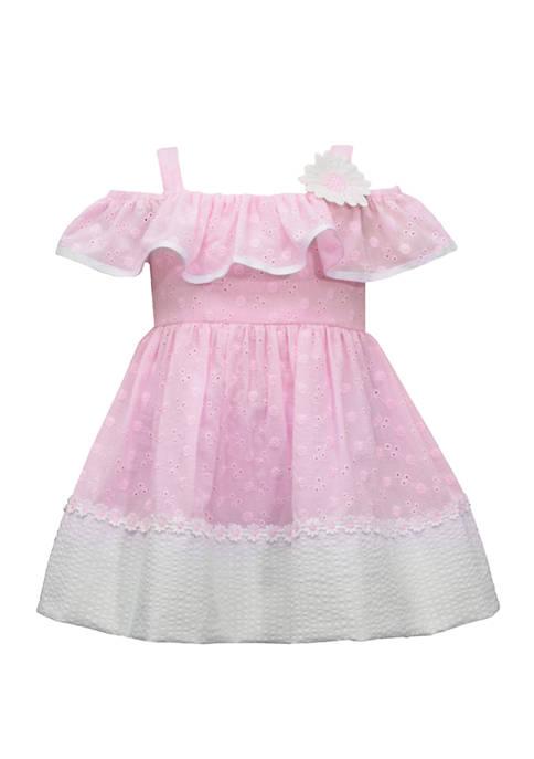 Bonnie Jean Baby Girls Eyelet Empire Waist Dress