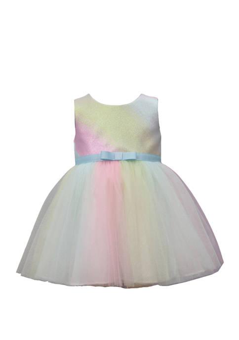 Baby Girls Metallic Ombré Brocade Dress