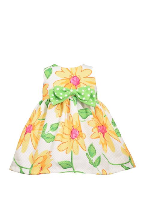 Bonnie Jean Baby Girls Sunflower Pique Dress