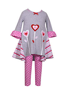 2-piece Valentine's Day Set Infant Girls
