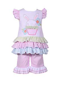 Bonnie Jean Baby Girls Seersucker Bunny  Set