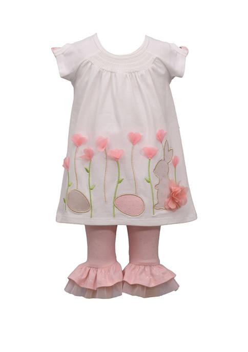 Bonnie Jean Baby Girls 2 Piece Bunny Smocked