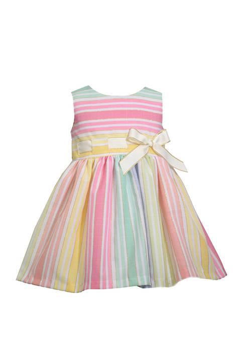 Bonnie Jean Toddler Girls Sleeveless Pull Through Ribbon