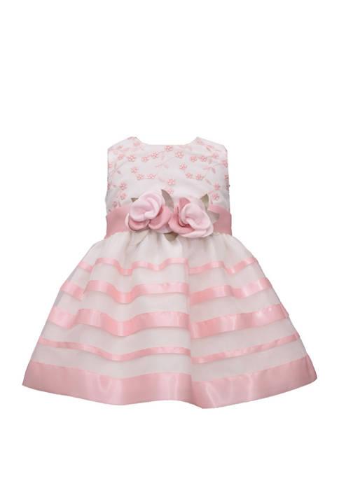 Bonnie Jean Toddler Girls Floral Stripe Dress