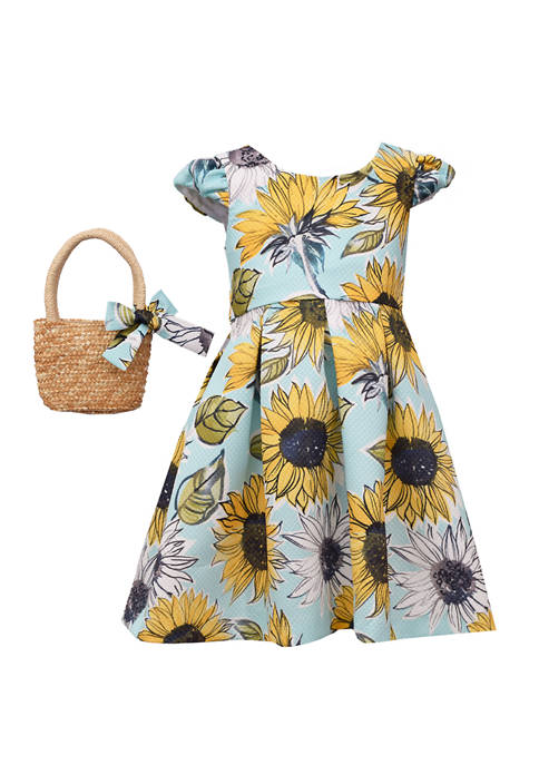 Bonnie Jean Toddler Girls Sunflower Hat Dress