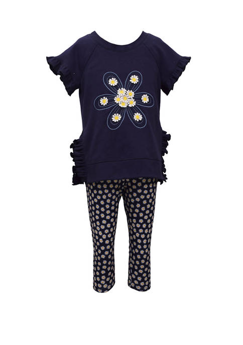 Bonnie Jean Toddler Girls Daisy Print Top and