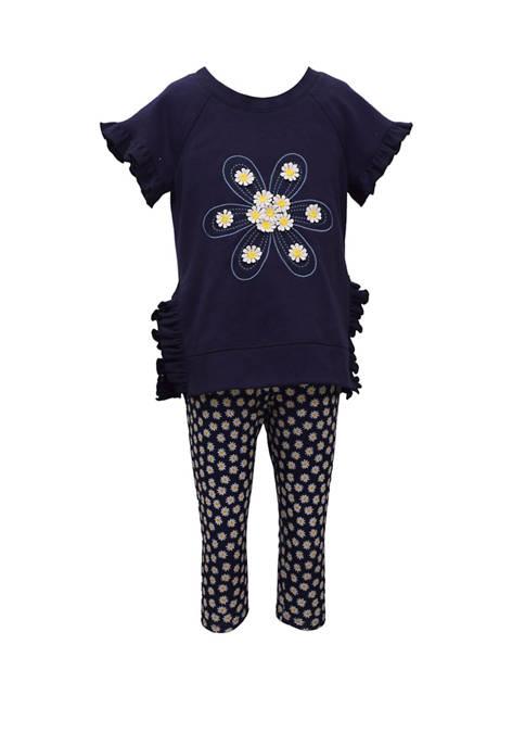 Toddler Girls Daisy Print Top and Leggings Set
