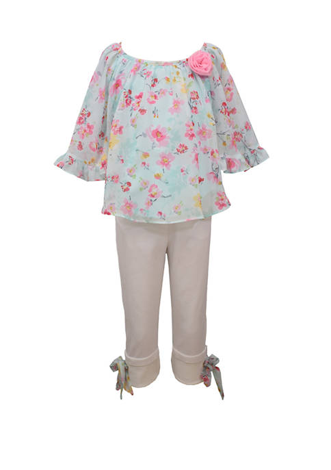 Bonnie Jean Toddler Girls Butterfly Sleeve Woven Pants