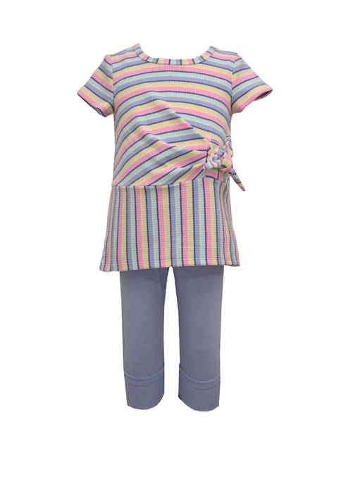 Bonnie Jean Toddler Girls Short Sleeve Tunic Leggings