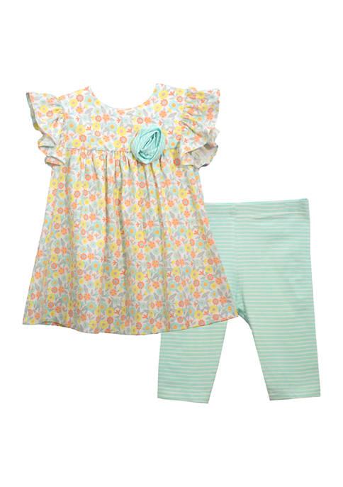 Toddler Girls Floral Print Legging Set