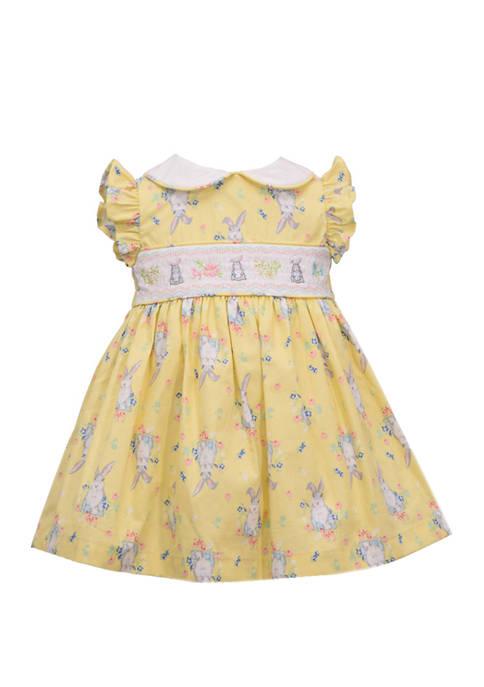 Bonnie Jean Toddler Girls Peter Pan Collar Smocked