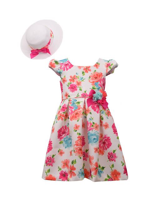 Bonnie Jean Toddler Girls Floral Hat Dress