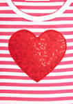 Toddler Girls Short Sleeve Valentine Leggings Set