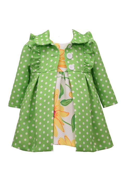 Bonnie Jean Girls 4-6x Coat and Dress Set