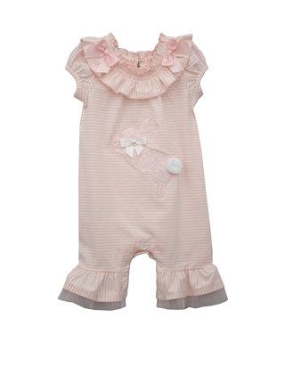 Bonnie Baby Baby Girls One Piece Knit Romper Dress