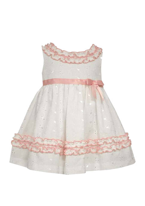 Bonnie Jean Baby Girls Eyelet Dress