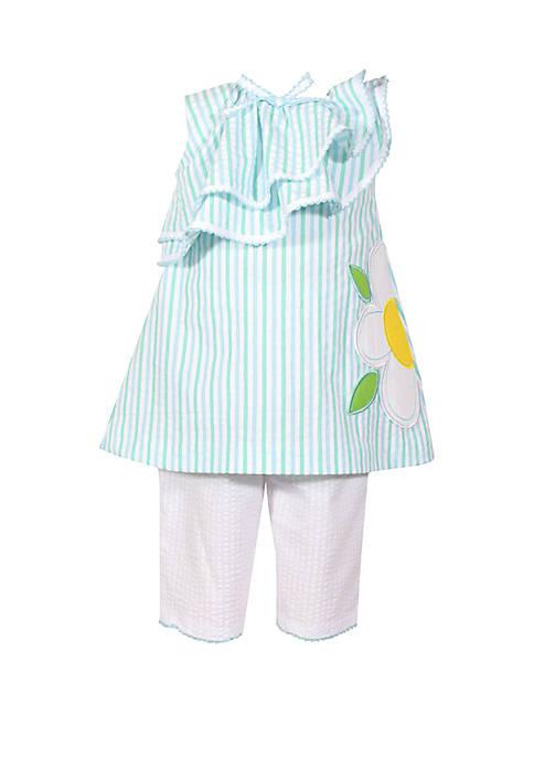 Bonnie Jean Baby Girls Seersucker Asymmetrical Top and