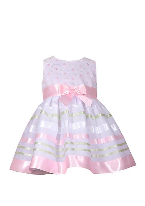 Baby Girls Pink Ribbon Dress