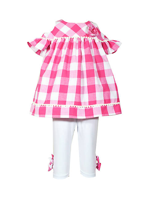 Bonnie Jean Baby Girls Gingham Top and Capris