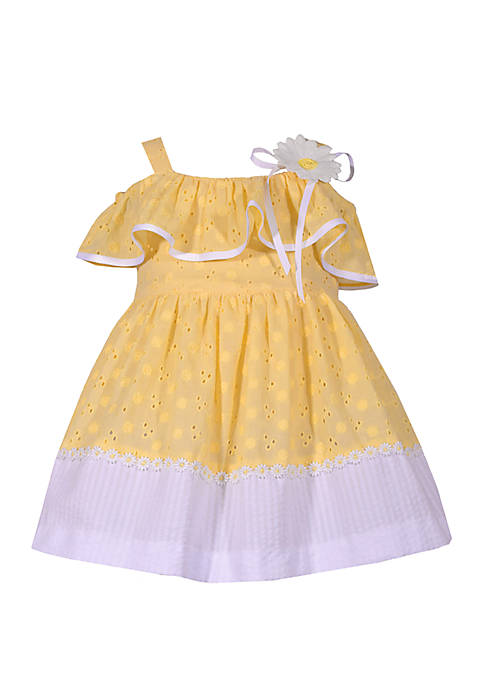 dd5a537c84b9 Bonnie Jean Baby Girls Yellow Eyelet Dress