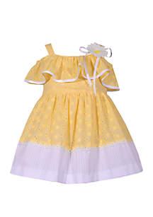 Bonnie Jean Baby Girls Yellow Eyelet Dress