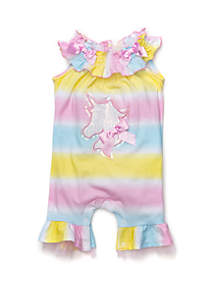 fb04d9c4224 ... Bonnie Jean Baby Girls Ombre Unicorn Coverall