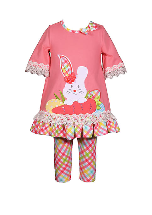 Bonnie Jean Baby Girls Coral Bunny Set