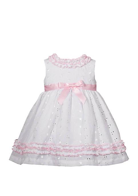 Bonnie Jean Baby Girls Eyelet Dress