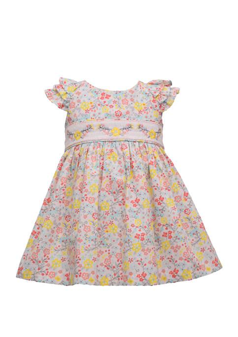 Bonnie Jean Baby Girls Smocked Floral Empire Waist