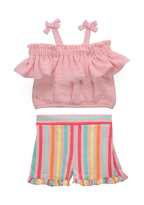 Bonnie Jean Baby Girls Striped Set
