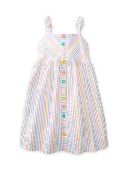 Bonnie Jean Toddler Girls Sleeveless Multi Stripe Seersucker