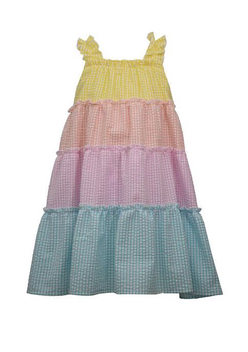 Bonnie Jean Toddler Girls Sleeveless Color Block Seersucker