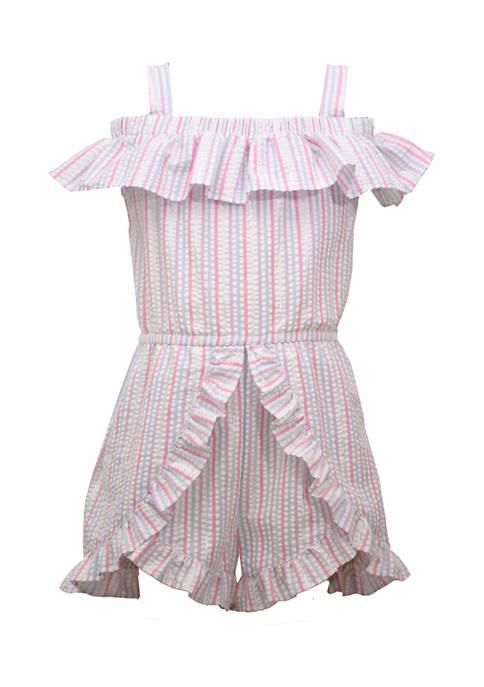 Bonnie Jean Toddler Girls Ruffle Short Romper