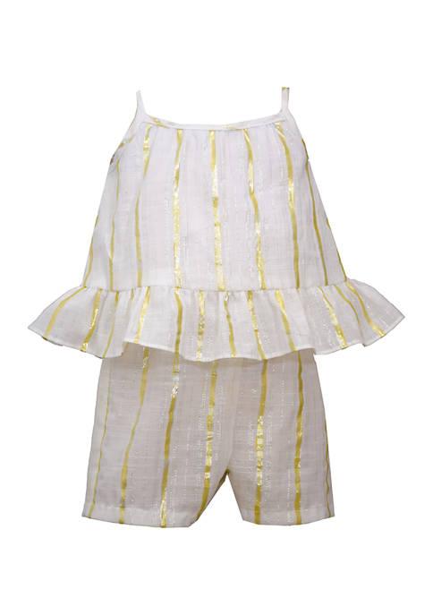 Bonnie Jean Toddler Girls LUREX® Romper