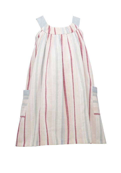 Bonnie Jean Toddler Girls Sleeveless Stripe Linen Dress