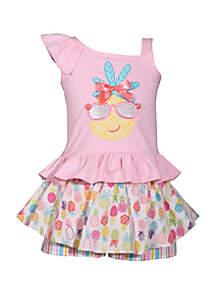 Bonnie Jean Toddler Girls Pineapple Skort Set