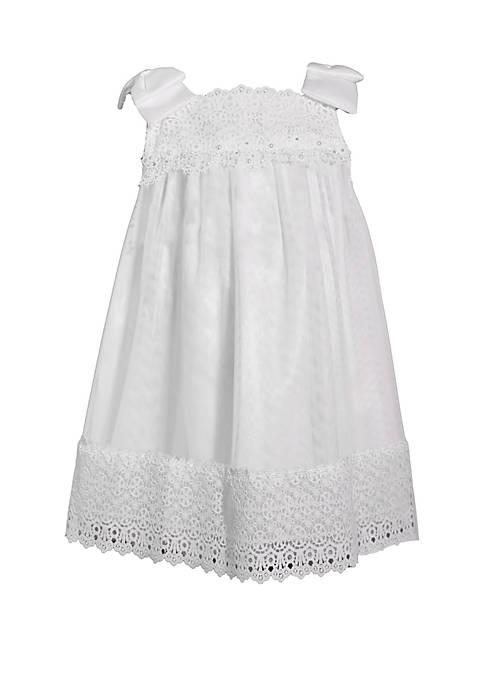 Bonnie Jean Toddler Girls White Chiffon Dress with