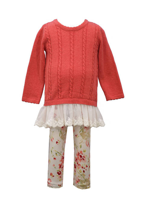 Bonnie Jean Baby Girls Cable Knit Sweater and