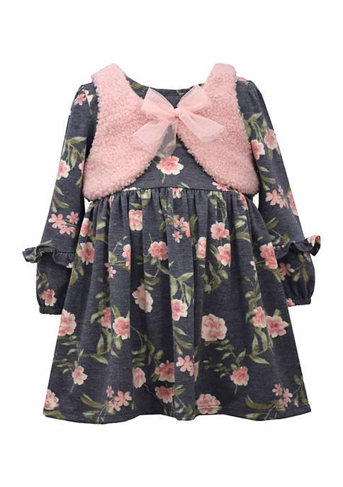 Bonnie Jean Baby Girls 2 Piece Printed Dress