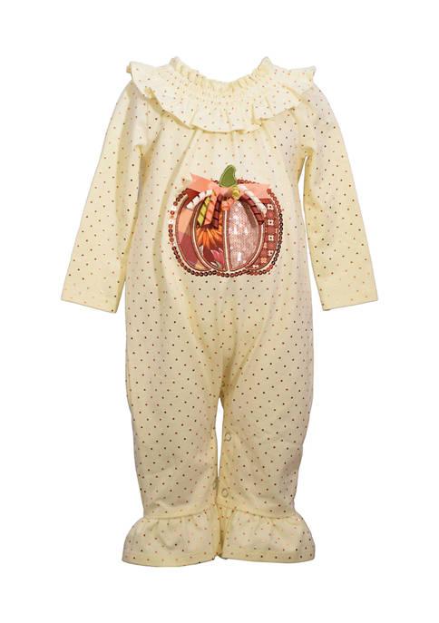 Bonnie Jean Baby Girls Harvest with Pumpkin Graphic