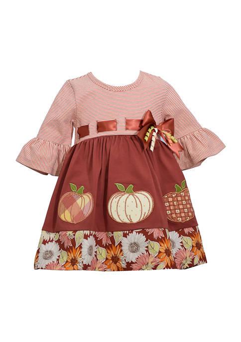 Baby Girls Harvest Ribbon Dress
