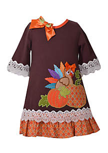 Baby Girls Brown Turkey Dress